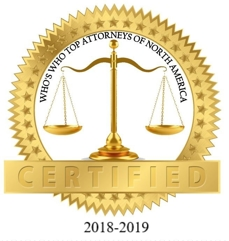 Who's Who Top Attorneys of North America - Certified 2018-2019